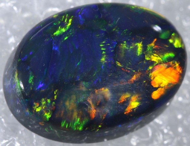 N1  4.13 CTS DOUBLE SIDE BLACK SOLID OPAL  INV-858 GC