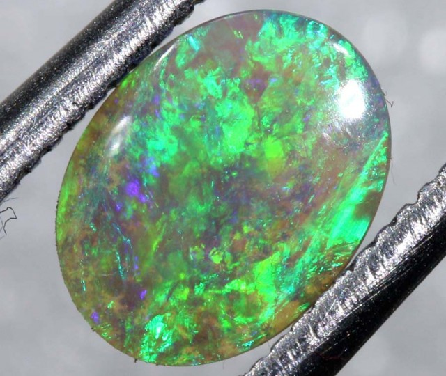 0.50 CTS N-6 LIGHT BASE SEMI BLACK SOLID OPAL STONE  TBO-7303