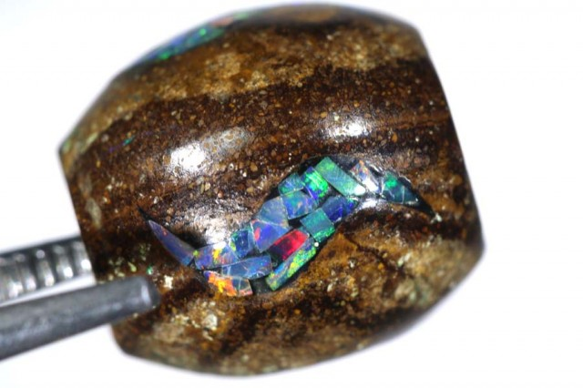 15CT BOULDER OPAL BEADS INLAY LO-4305