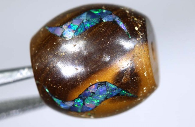 17.2 CT BOULDER OPAL BEADS INLAY LO-4310