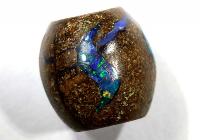 15 CT BOULDER OPAL BEADS INLAY LO-4313