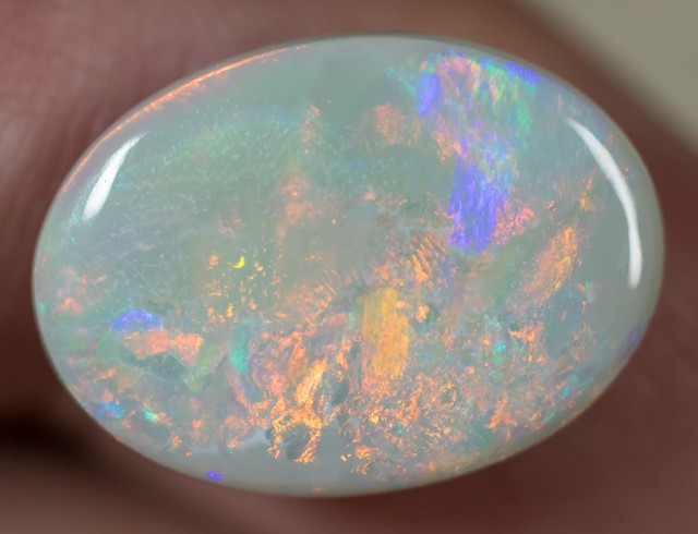 SEMI-BLACK OPAL LIGHTNING RIDGE MULTI-COLOR SOLID 7.17ct GEM SBC100717