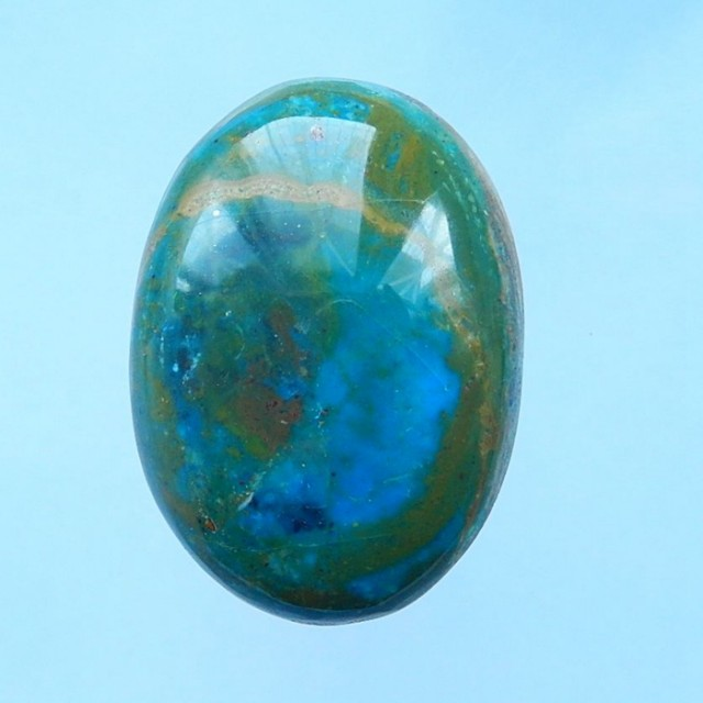 65CTNatural Blue Opal High Quality Oval Cabochon