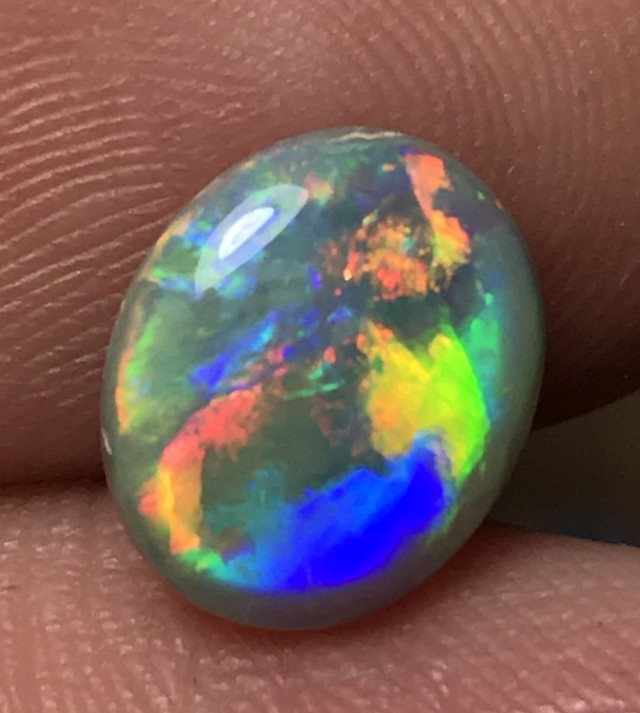 2.20ct Lightning Ridge Gem Semi Black Opal LR345
