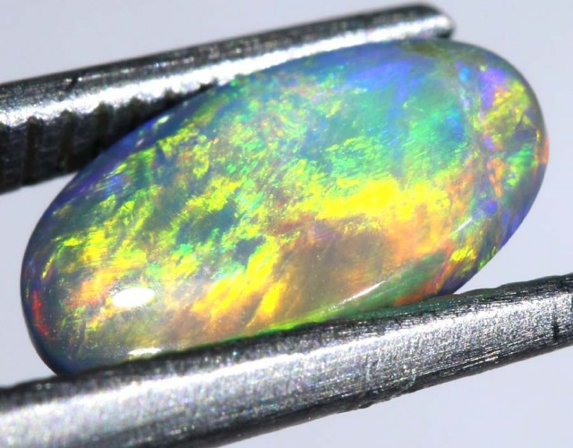 N3- 0.8CTS SOLID  BLACK OPAL STONE  TBO-7411