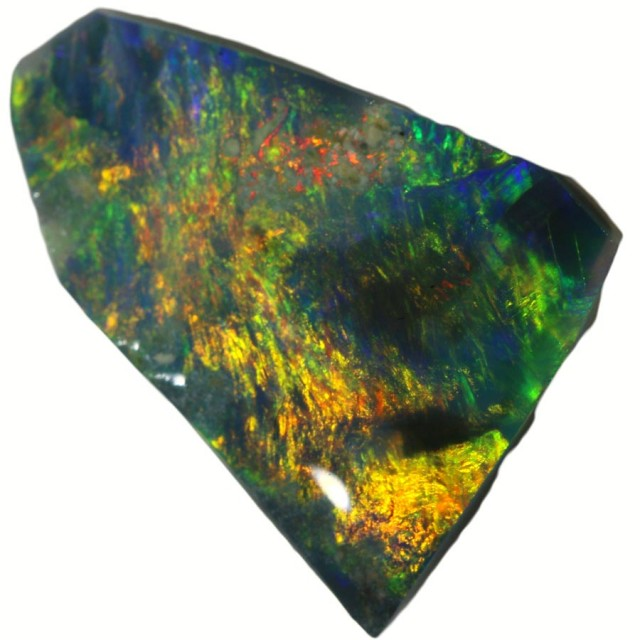 1.90 CTS BLACK  OPAL ROUGH -RUBBED [BR5618] SAFE
