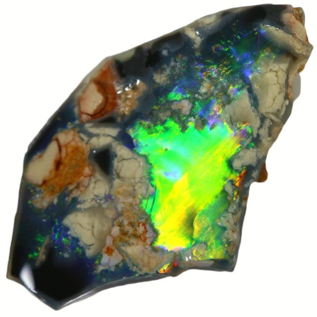 2.60 CTS BLACK  OPAL ROUGH -RUBBED [BR5624] SAFE