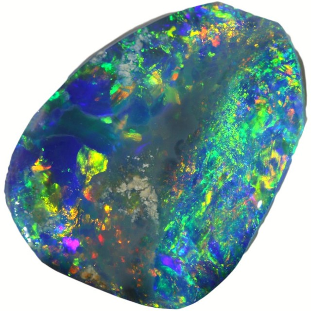 2.50 CTS BLACK  OPAL ROUGH -RUBBED [BR5625] SAFE