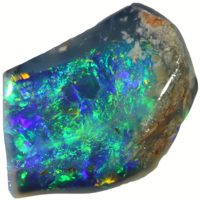 1.95 CTS BLACK  OPAL ROUGH -RUBBED [BR5626] SAFE