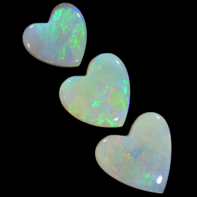 3.39 CTS LOVE HEART SHAPE COOBER PEDY OPAL PARCEL BB32