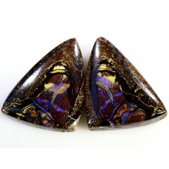 40.50 CTS BOULDER OPAL PAIR  [SO9418]
