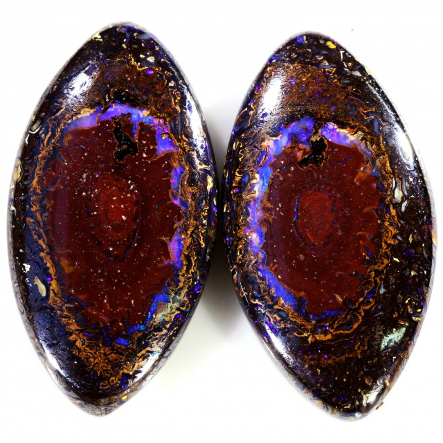 67.40 CTS BOULDER OPAL PAIR  [SO9420]