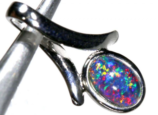 4.25CTS SILVER TRIPLET OPAL PENDANT OF-2056