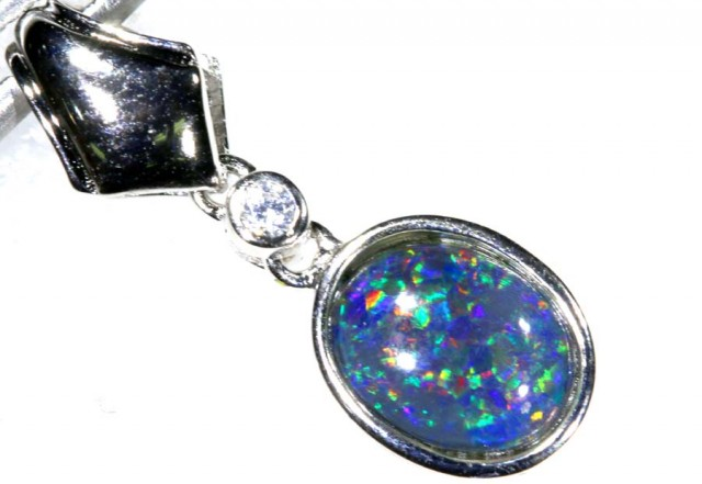 6.00CTS SILVER TRIPLET OPAL PENDANT OF-2061