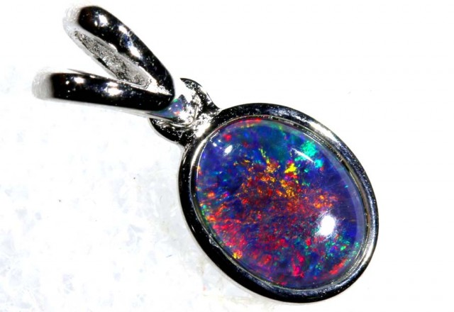 3.75CTS SILVER TRIPLET OPAL PENDANT OF-2067