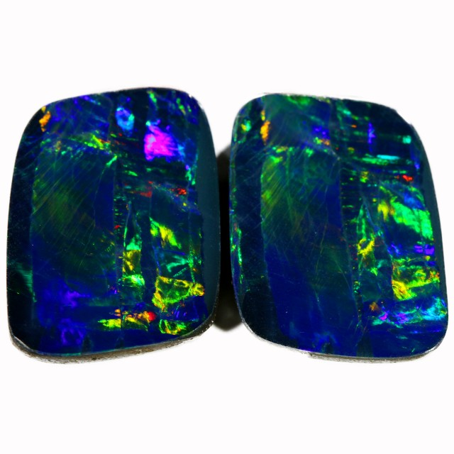 9.06 CTS PAIR DOUBLET OPAL BB74