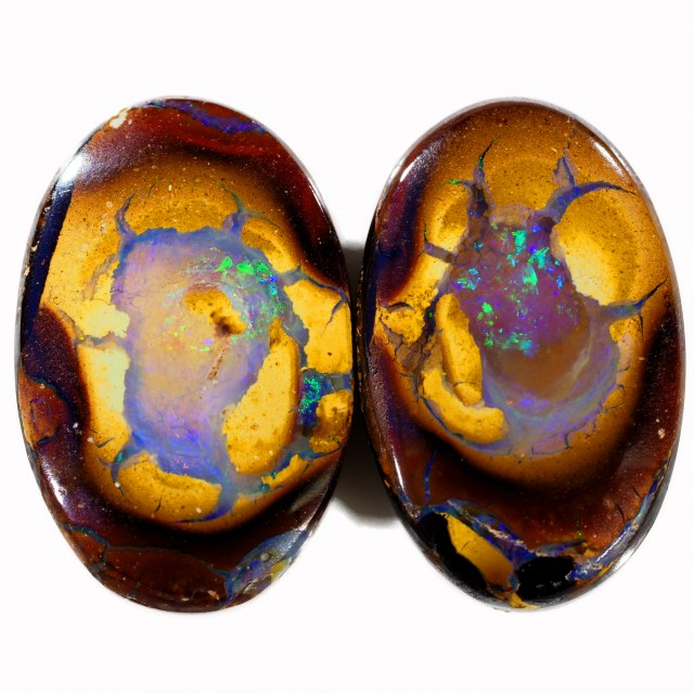 19.70 CTS BOULDER OPAL PAIR  [SO9429]