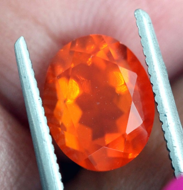 1.5 CTS MEXICAN FIRE OPAL  STONE FOB-1101