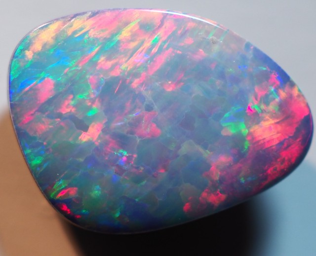4.00CT GEM QUALITY BLACK OPAL DOUBLET  TO5