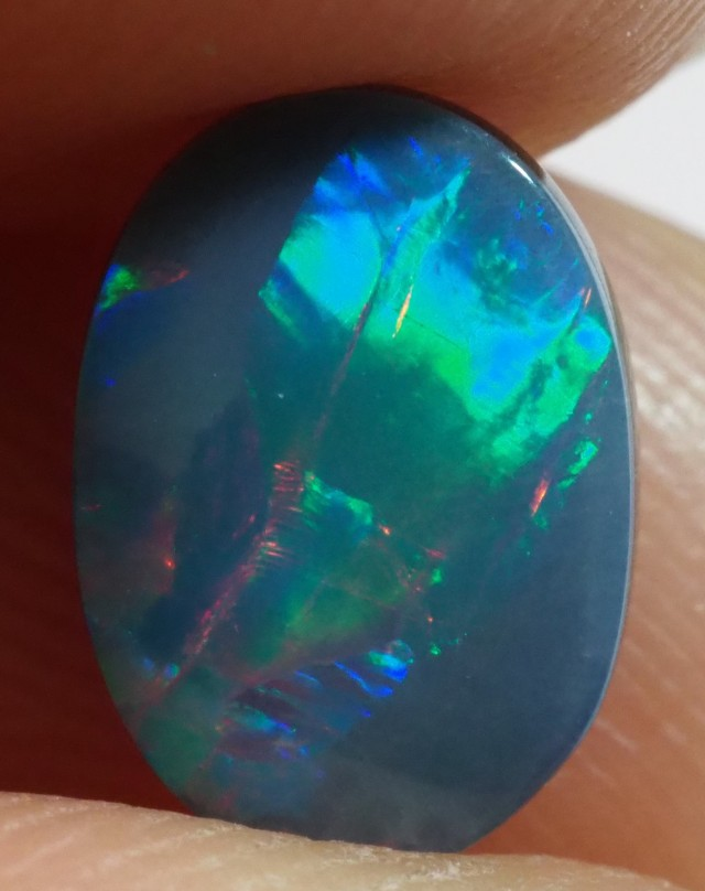 1.35CT GEM QUALITY BLACK OPAL DOUBLET  TO25