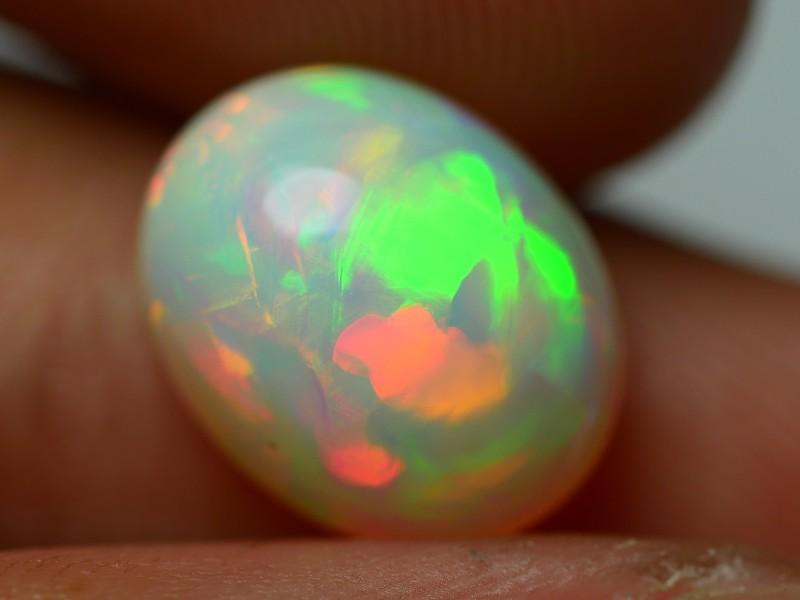2.45 CRT GORGEOUS RAINBOW HOLOGRAM PUZZLE 3D PATTERN WELO OPAL