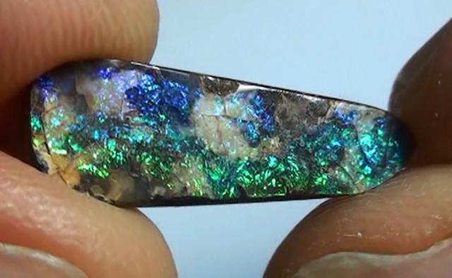 3.45 ct Boulder Opal Natural Blue Green Color