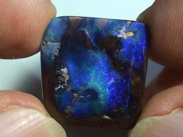 20.30 ct Boulder Opal Natural Blue Color