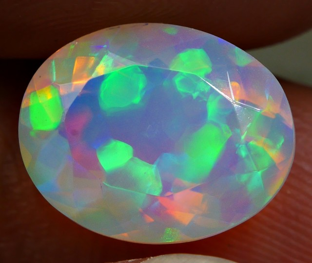 3.20 CRT STUNNING FACETED BUBBLE PUZZLE PATTERN PLAY COLOR WELO OPAL