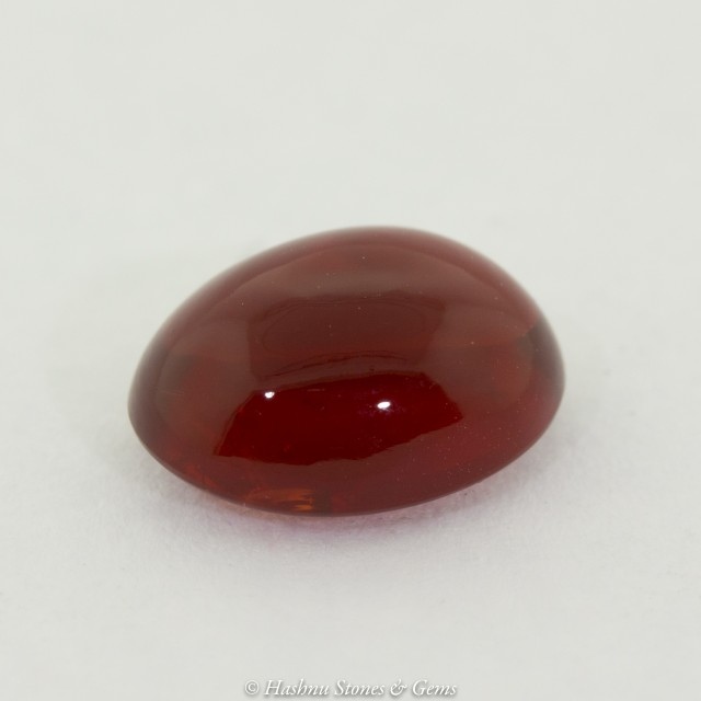 Cherry Red Mexican Fire Opal Cabochon #1