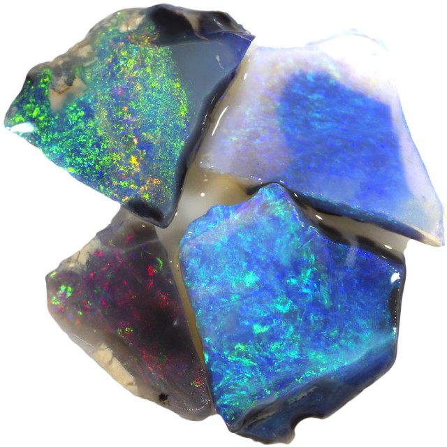 8.05 CTS BLACK  OPAL ROUGH PARCEL -RUBBED/FACED [BR5724]