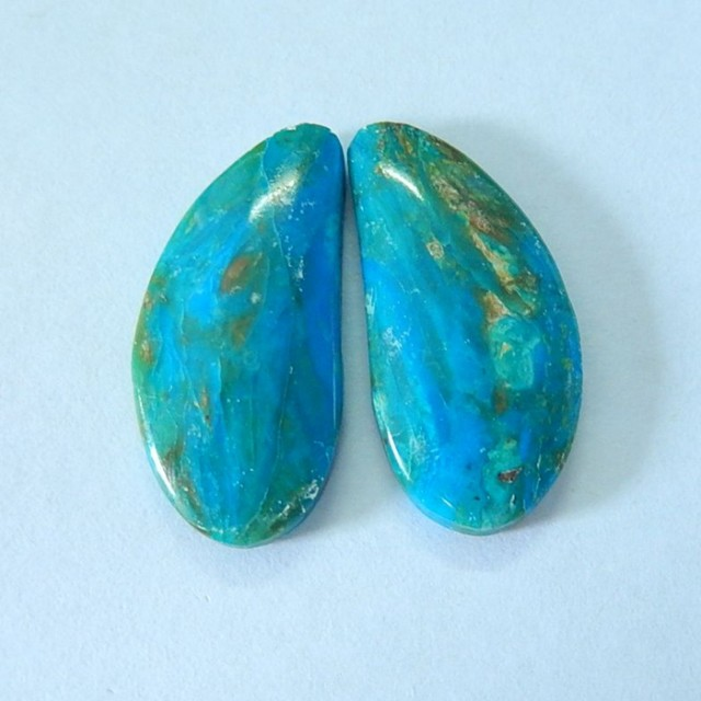 15ct Natural Peruvian Opal Cabochon Pair ,24x11x4mm