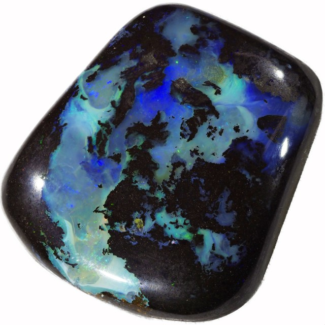 68.50 CTS WELL POLISHED BOULDER OPAL STONE [SO9544]