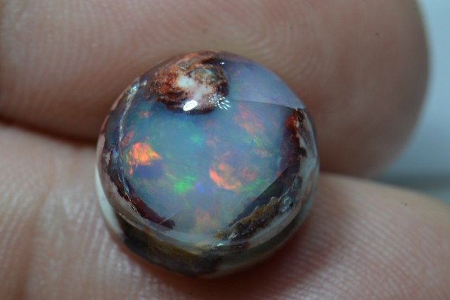 9.5ct Mexican Matrix Opal Slotted Wirewrap ready