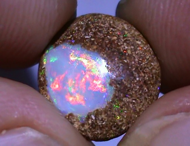 3.75 ct Beautiful Multi Color Queensland Boulder Pipe Opal