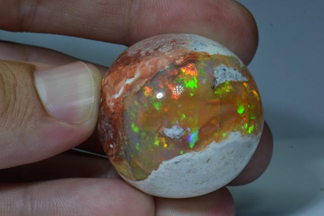 152ct Natural Mexican Matrix Cantera Colorful Fire Opal