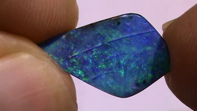 3.25 ct Boulder Opal Natural Blue Green Color