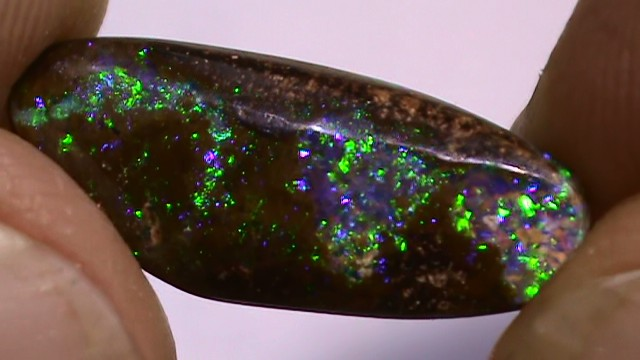 2.85 ct Boulder Opal Natural Gem Blue Green Color