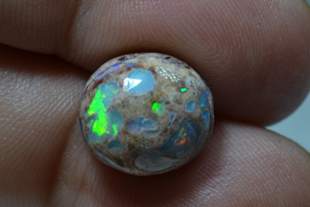 7ct Mexican Matrix Opal Slotted Wirewrap ready