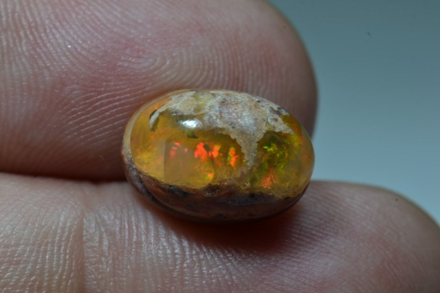 6ct Mexican Matrix Opal Slotted Wirewrap ready