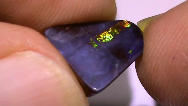 3.35 ct Gem Multi Color Natural Queensland Boulder Opal