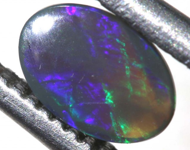 N4 0.25 CTS BLACK OPAL POLISHED STONE TBO-7574