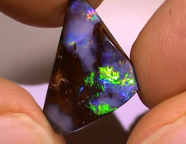 8.95 ct Gem Multi Color Natural Queensland Boulder Opal