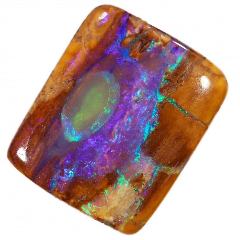 Pipe crystal boulder opal stone BB296