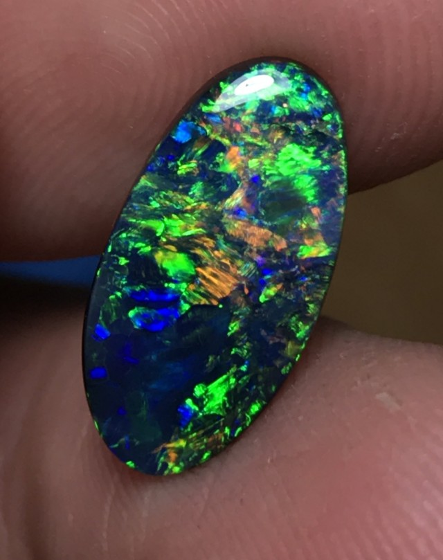 3.0ct Lightning Ridge Gem Black Opal LRS047