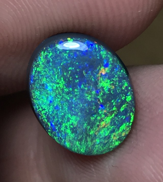 3.29ct Lightning Ridge Gem Black  Opal LRS017