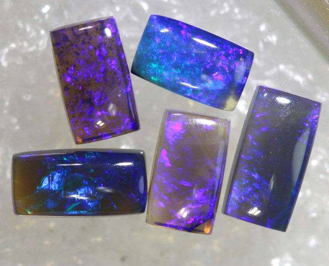 1.5CTS CRYSTAL OPAL POLISHED PARCEL 5PCS TBO-7637