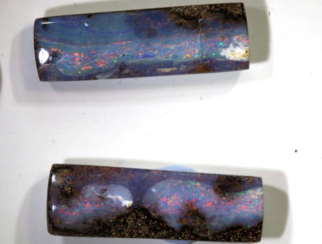 19.45 CTS BOULDER OPAL PAIRS POLISHED CUT STONE TBO-7643