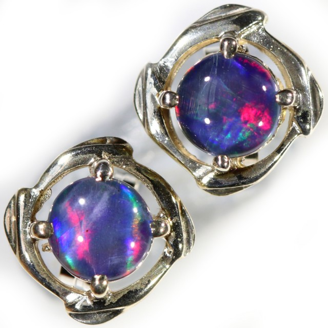 Gem Opal Triplet set in Silver Earring CF1450