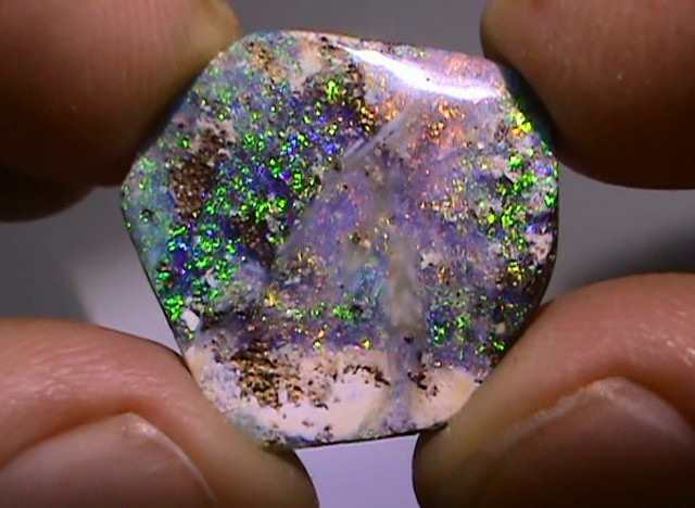 11.45 ct Beautiful Gem Blue Green Natural Queensland Boulder Opal