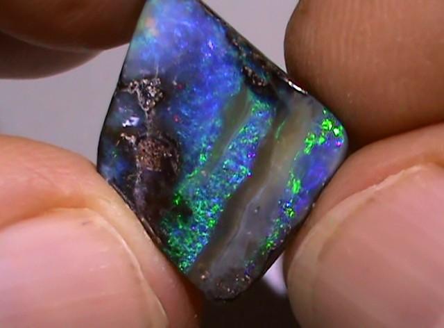 7.50 ct Beautiful Blue Green Natural Queensland Boulder Opal